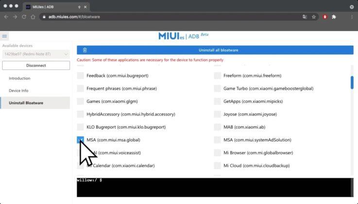 Найден быстрый способ удаления ненужных приложений в MIUI