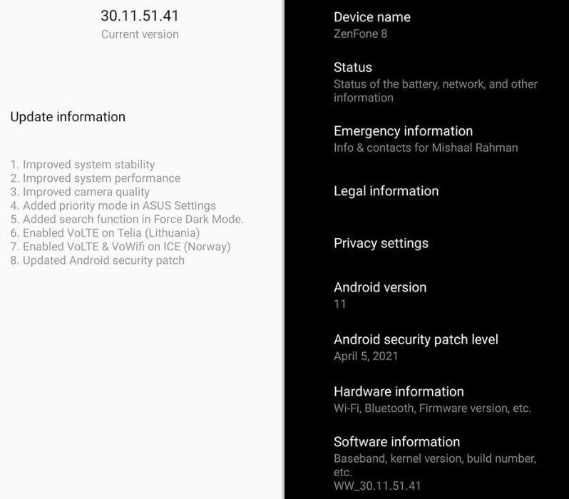 Asus выпустила обновления для ZenFone 8 и ZenFone 8 Flip менее чем через неделю после презентации