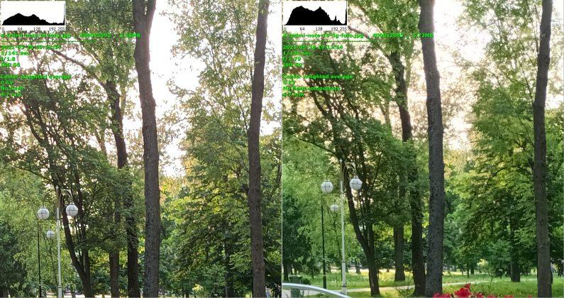 Сравнение - Redmi Note 10 5G справа