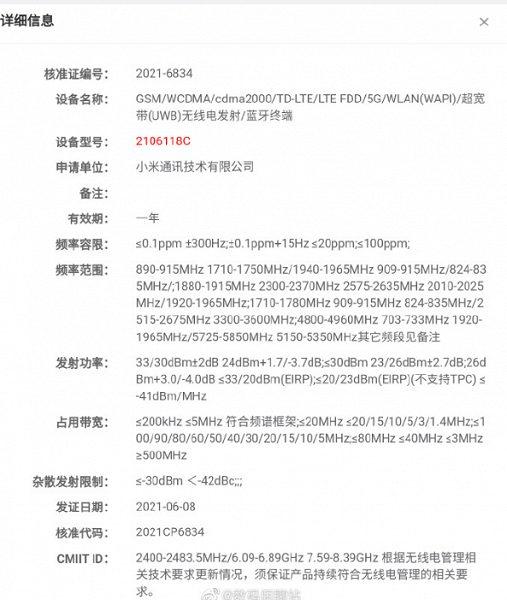 Xiaomi Mi Mix 4 прошел сертификацию