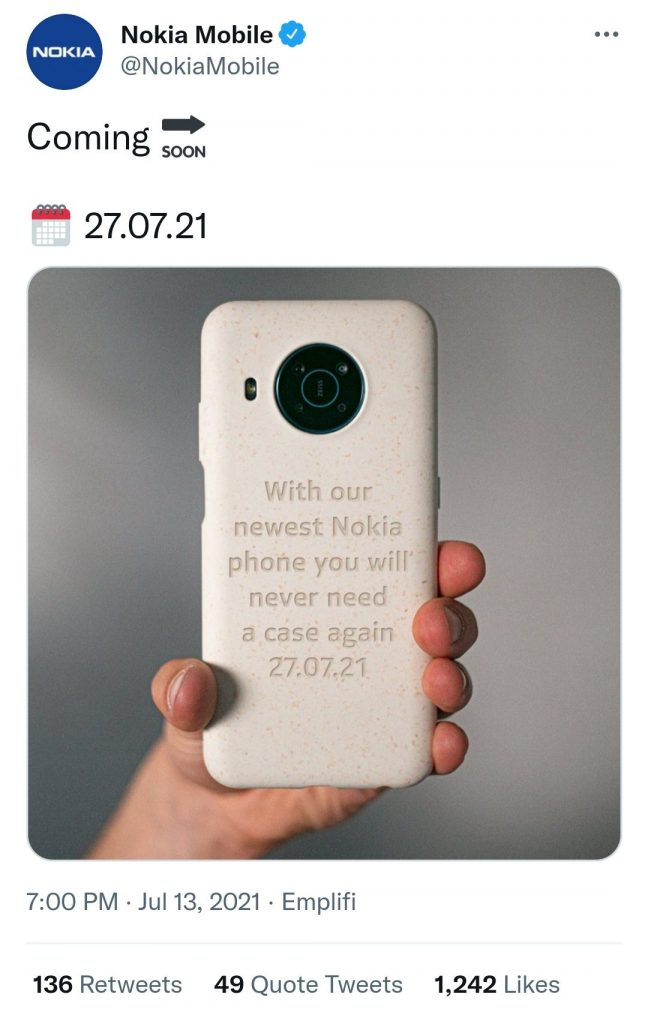 Nokia представит новый смартфон