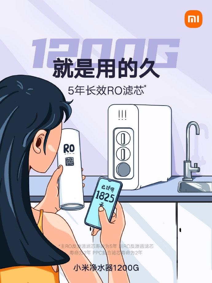 Xiaomi анонсировала производительный очиститель воды с двойным обратным осмосом