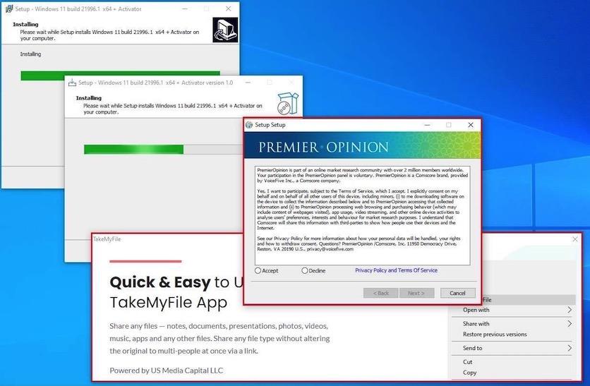 Поддельный образ Windows 11