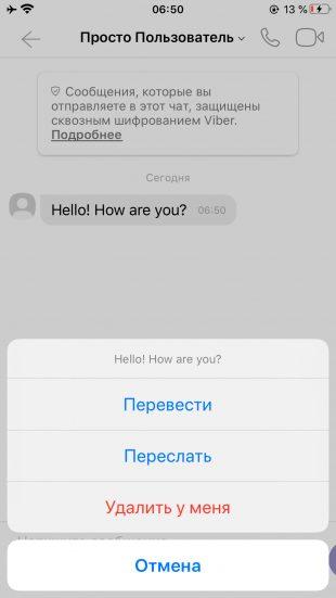 Используем переводчик