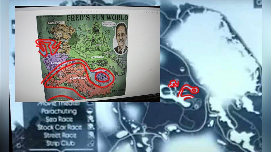 З'явилася карта розважального парку в GTA 6