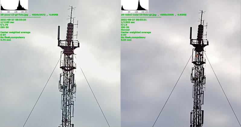 Сравнение - Poco X3 GT слева