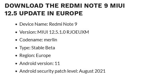 MIUI 12.5 прилетит на два бестселлера Redmi