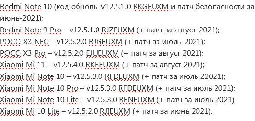 MIUI 12.5 прилетит почти на десяток смартфонов Xiaomi Poco и Redmi