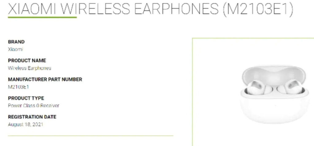 Новые TWS-наушники Xiaomi