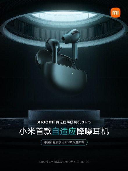 Беспроводные наушники Xiaomi True Wireless с шумоподавлением 3 Pro