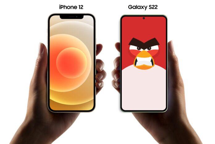 iPhone 13 и Samsung Galaxy S22