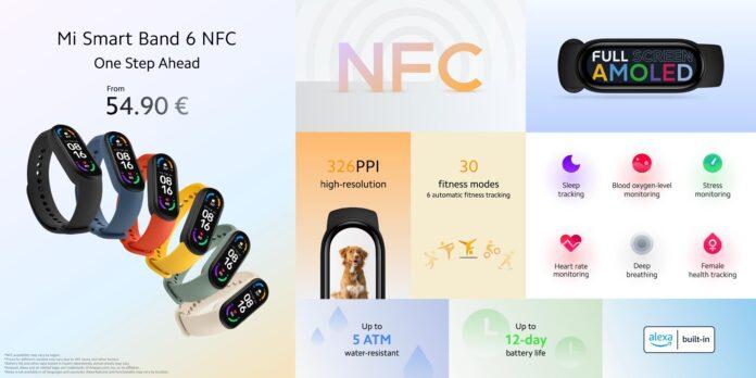 Представлен Smart Band 6 NFC