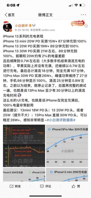 iPhone 13 протестировали на быстроту зарядки