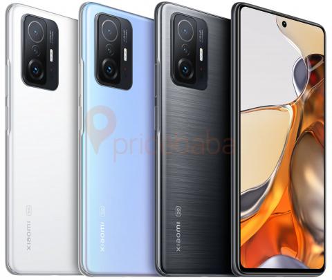 Новые подробности о смартфонах серии Xiaomi 11T