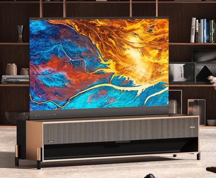 В Китае показали телевизор с экраном рулонного типа