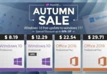Windows 10 Pro за $8.41 и скидки до 90% – стартовала осенняя распродажа в магазине KeysOFF