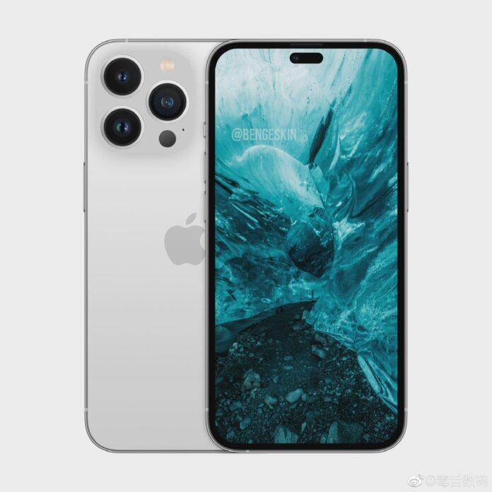 Экспозиция рендеринга iPhone 14 Pro
