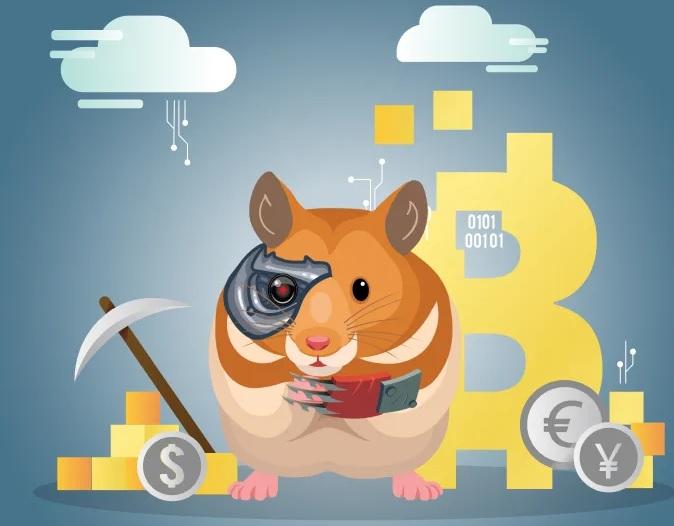 Хомяк удачно занимается трейдингом криптовалютой на бирже