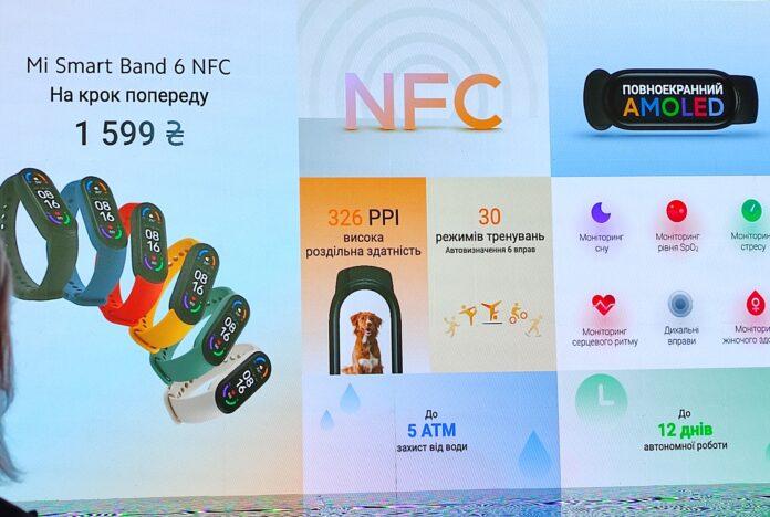 Mi Band 6 с NFC в Украине получил поддержку ПриватБанк и Monobank