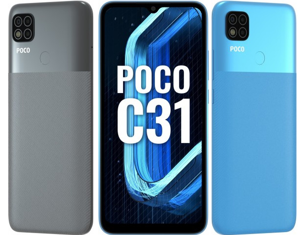 Poco C31: недорогой преемник прошлогоднего C3 с вместительной батареей презентован официально