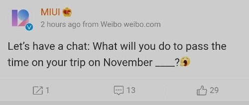 В Weibo озвучили дату презентации MIUI 13