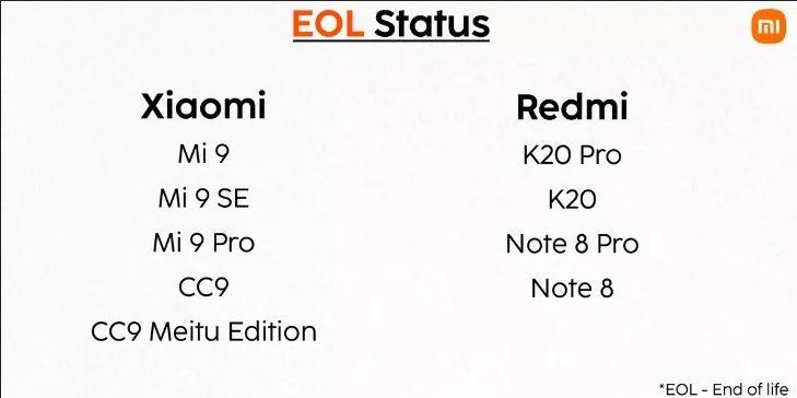 Xiaomi расширила список смартфонов, которые больше не получат обновления